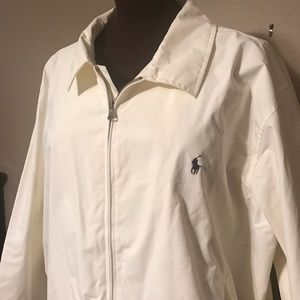 Nice Men's Polo Ralph Lauren White Zip Jacket